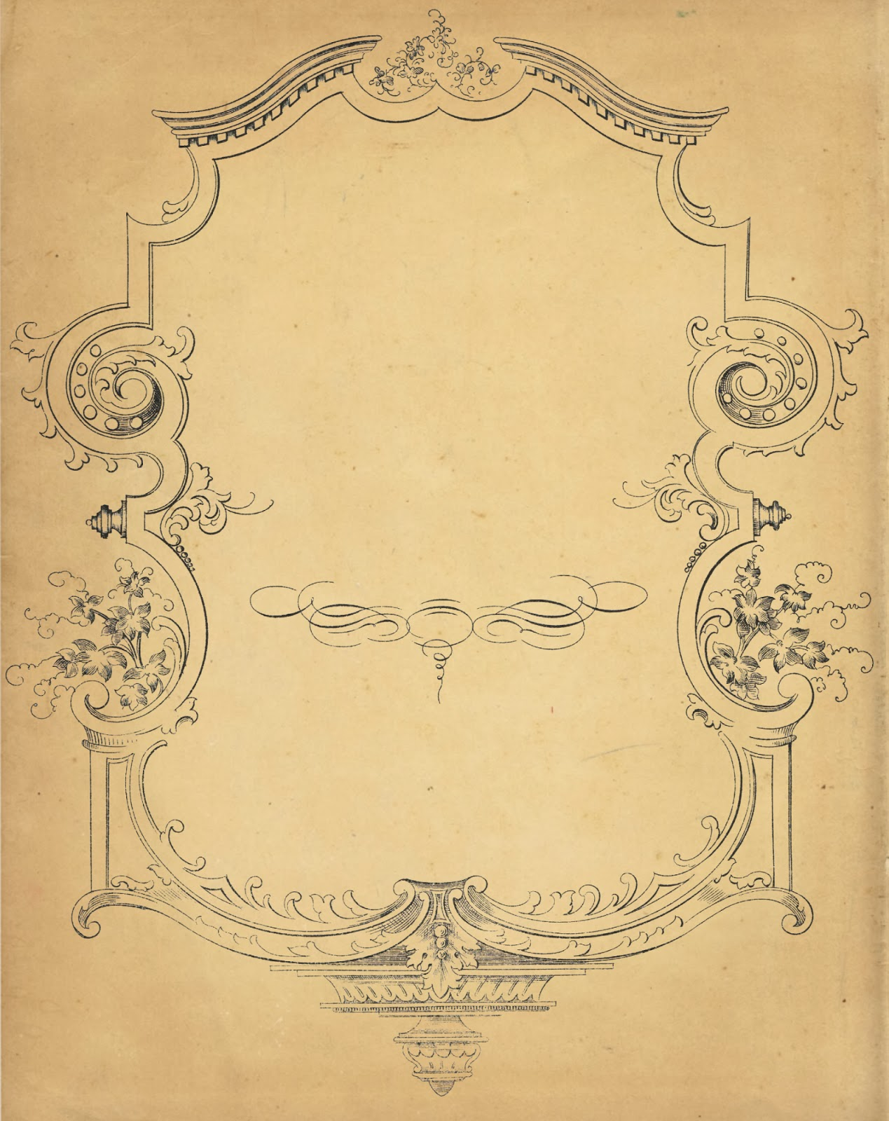 Fancy Scrolled Frame from Sheet Music | Knick of Time