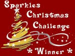 I Won &#39;Sparkles Christmas Challenge&#39; for Challenge No: 26 - &#39;3,2,1