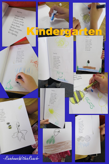 photo of: kindergarten spring poem, preschool poem for spring, children's drawings for spring