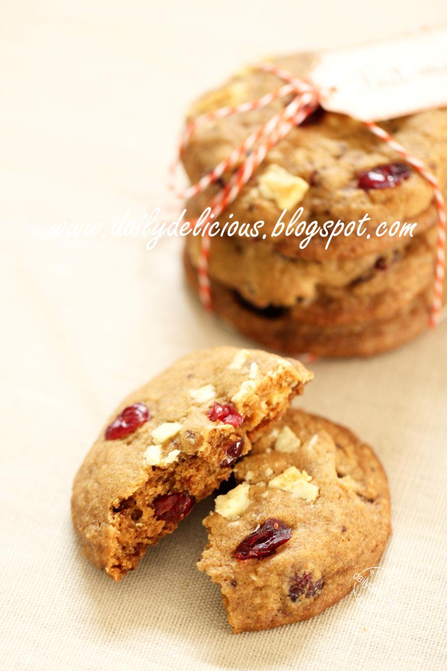 Chocolate Cranberry Cookies Vegan