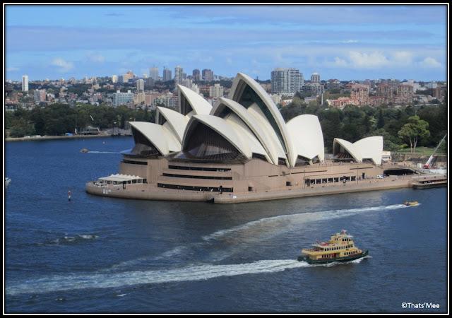 Opéra de Sydney, vue Harbour Bridge baie