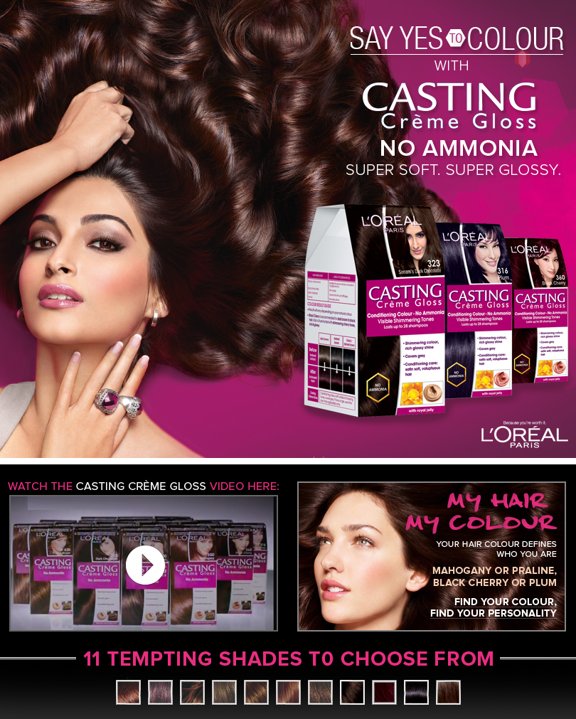 Loreal hair color quiz -  Say Yes To Colour With L Oreal Paris Casting Cr Me Gloss Its Giveaway Time Ladies Sponsored By L Oreal Paris India