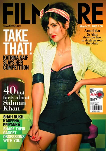 Katrina Cover Photo in Filmfare March 2013