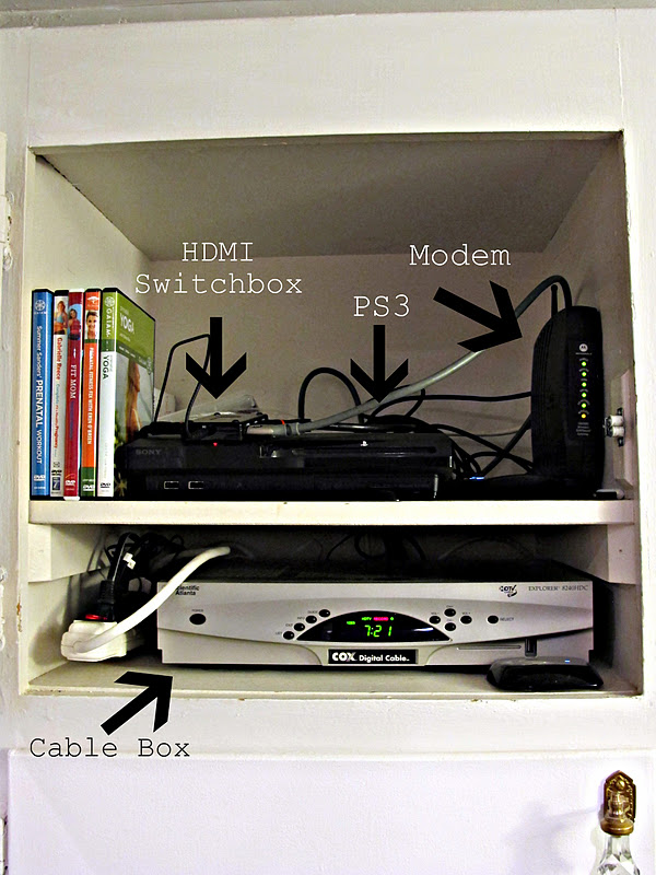 Cord Free Mantel How To Hide Your Cable Box System Dream Book Design