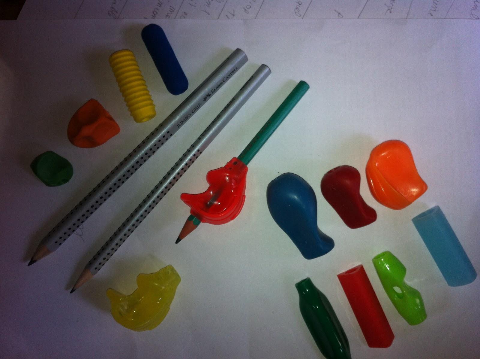 Outils de Correction de Posture D/écriture 6 PCS en Particulier les Personnes /âg/ées Ayant des Besoins Sp/éciaux /Étudiants Adultes Guide Doigt pour Enfants 6 Poign/ées de Crayon en Silicone