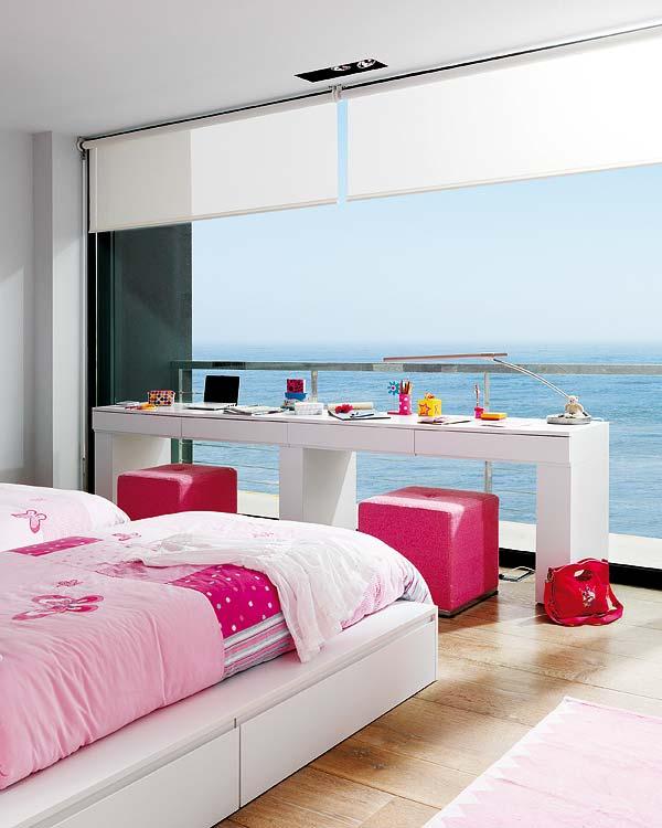 40 Luxuriöse Einrichtungsideen: Una Habitación Juvenil Con Vistas Al MarA