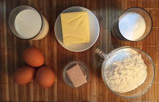 trenza de pan dulce con almendras - ingredientes