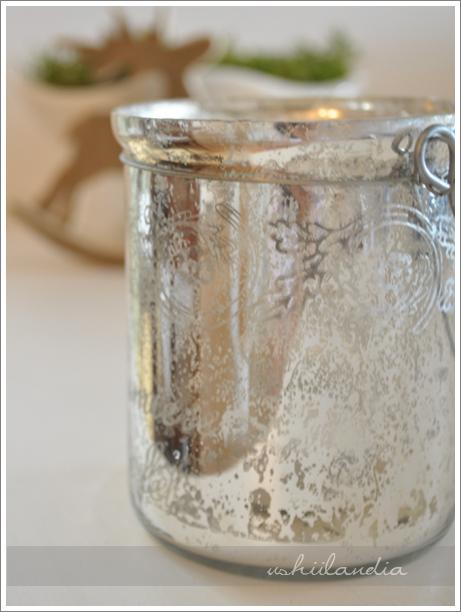 boże narodzenie - dekoracje świąteczne lampion posrebrzane postarzane szkło / christmas decoration mercury glass lantern