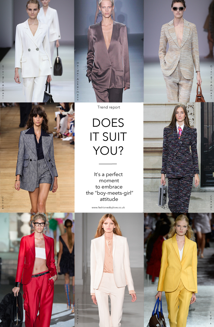 Spring/Summer 2015 trends / trouser suit / styling tips and outfit inspiration / via fashioned by love british fashion blog