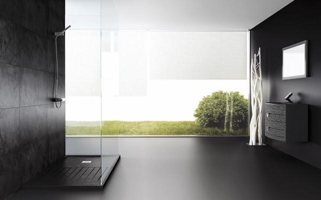 Душевой поддон Fiora Silex Mixed в ванной комнате