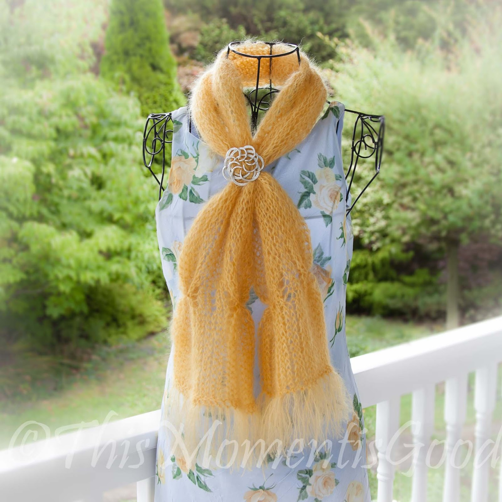 Free Knitting Patterns For Mohair Scarves : Loom Knitting by This Moment is Good!: FREE LOOM KNIT MOHAIR SCARF PATTERN!