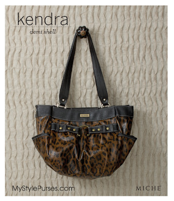 Miche Kendra Demi Shell - Leopard Print Purse