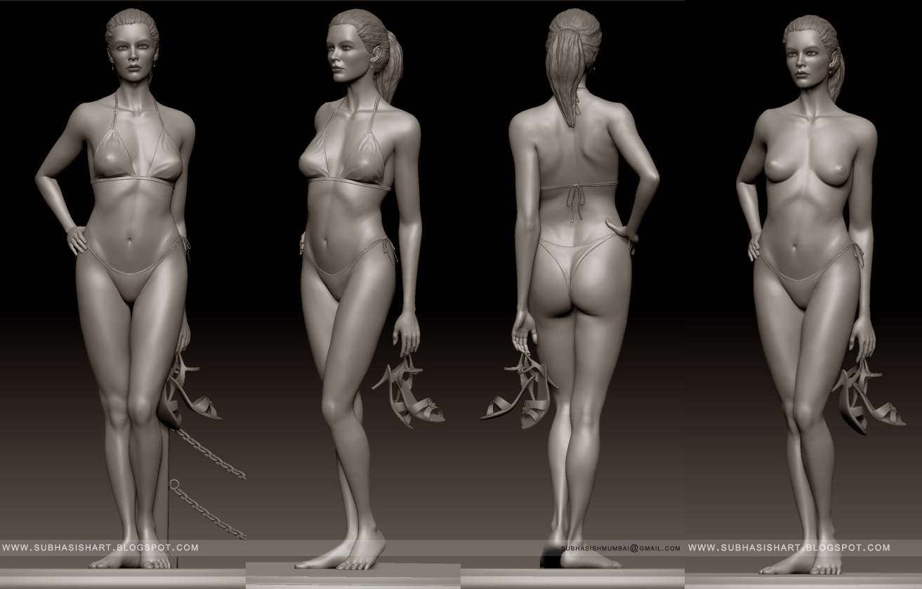 digital art works: Female anatomy study