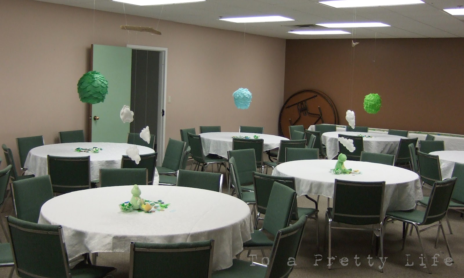 purple and green baby shower decorations. Olive Green and Baby Blue  Frog Shower Decorations To a Pretty Life