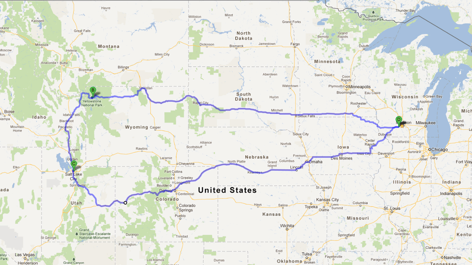 KillinIt National Lampoon Yoder Family Vacation - Map my vacation route