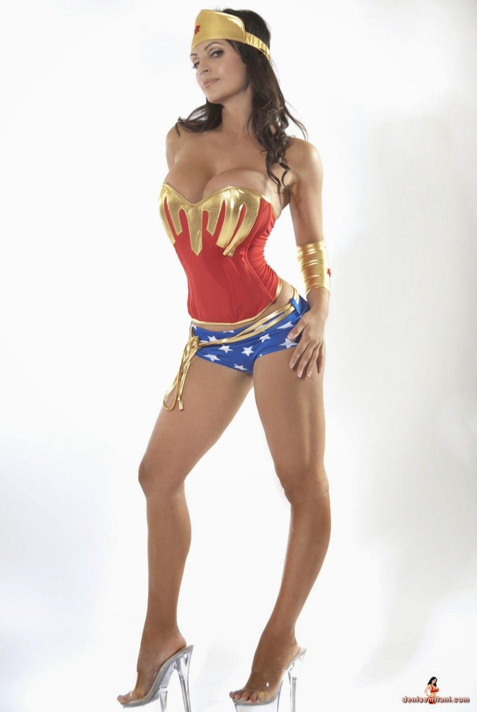 Denise Milani wonder woman