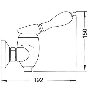 medidas grifo rustico ducha