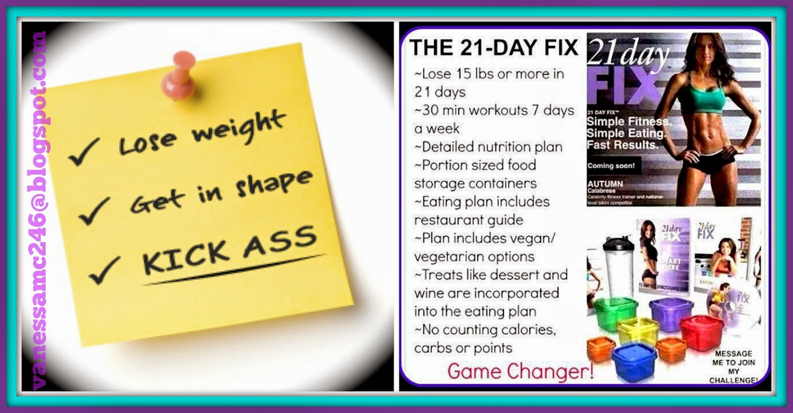 Vanessa McLaughlin, The Butterfly Effect, 21 Day Fix