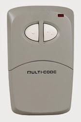Multi-Code 412001 Two-Button Remote Control with Visor Clip 300Mhz