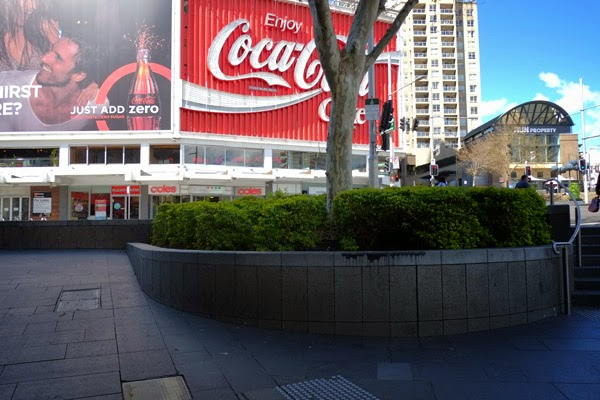The Coke billboard seen from William Street Kings Cross.