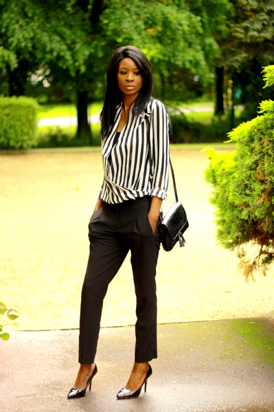 Black And White Stripes La Working Girl Tendance Styles By Assitan Blog Mode French Style
