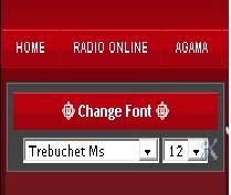 Widget Change Font This Blog