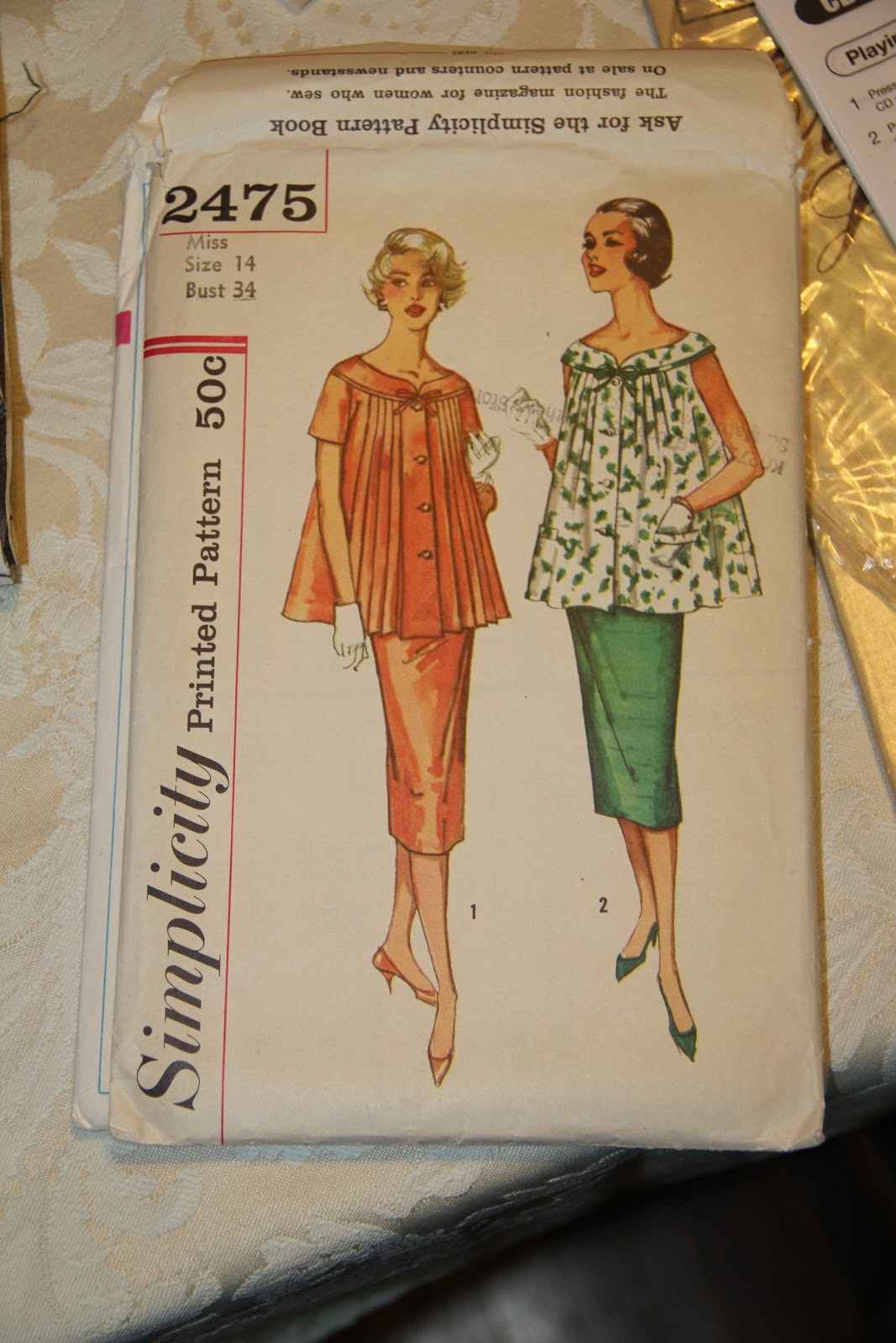 1958 maternity sewing pattern Simplicity 2475