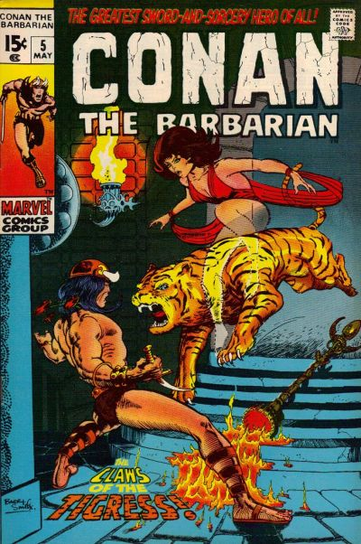 Conan the Barbarian #5, Zukala's Daughter, tigress, Barry Windsor Smith