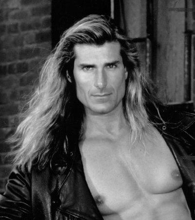 Remember Fabio - long hair with shaved/depilatory-ed chest