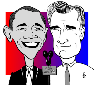 Barack Obama and Mitt Romney US2012 Election