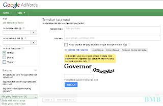 memilih kata kunci (keyword) menggunakan adwords google