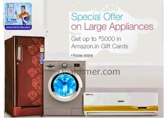 Get Upto Free Rs. 5000 Amazon Gift Cards
