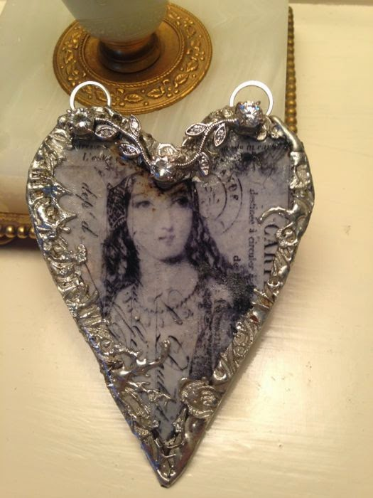 Queen of England Heart Necklace by The Pickled Hutch