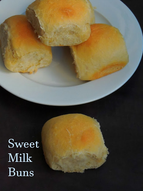 Sweet Milk Buns, Eggless Sweet Milk Buns