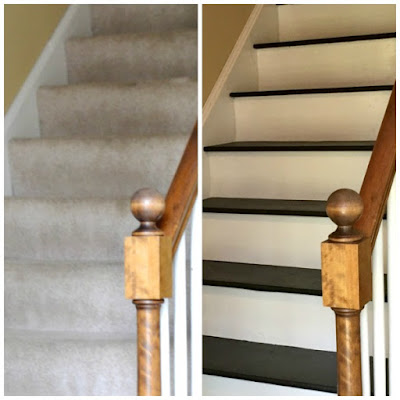 How to Remove Carpet & Paint Stairs, shared by To Simply Inspire