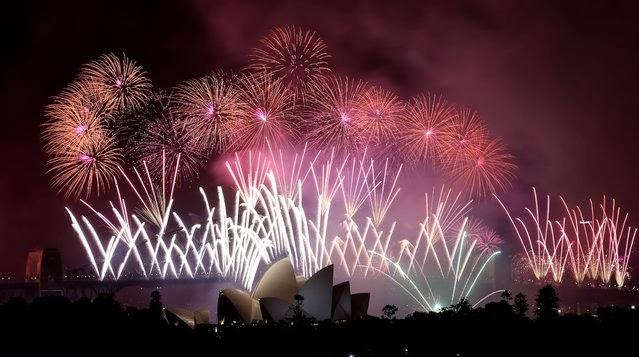 Fuegos Artificiales, año nuevo 2014, Sidney, Australia