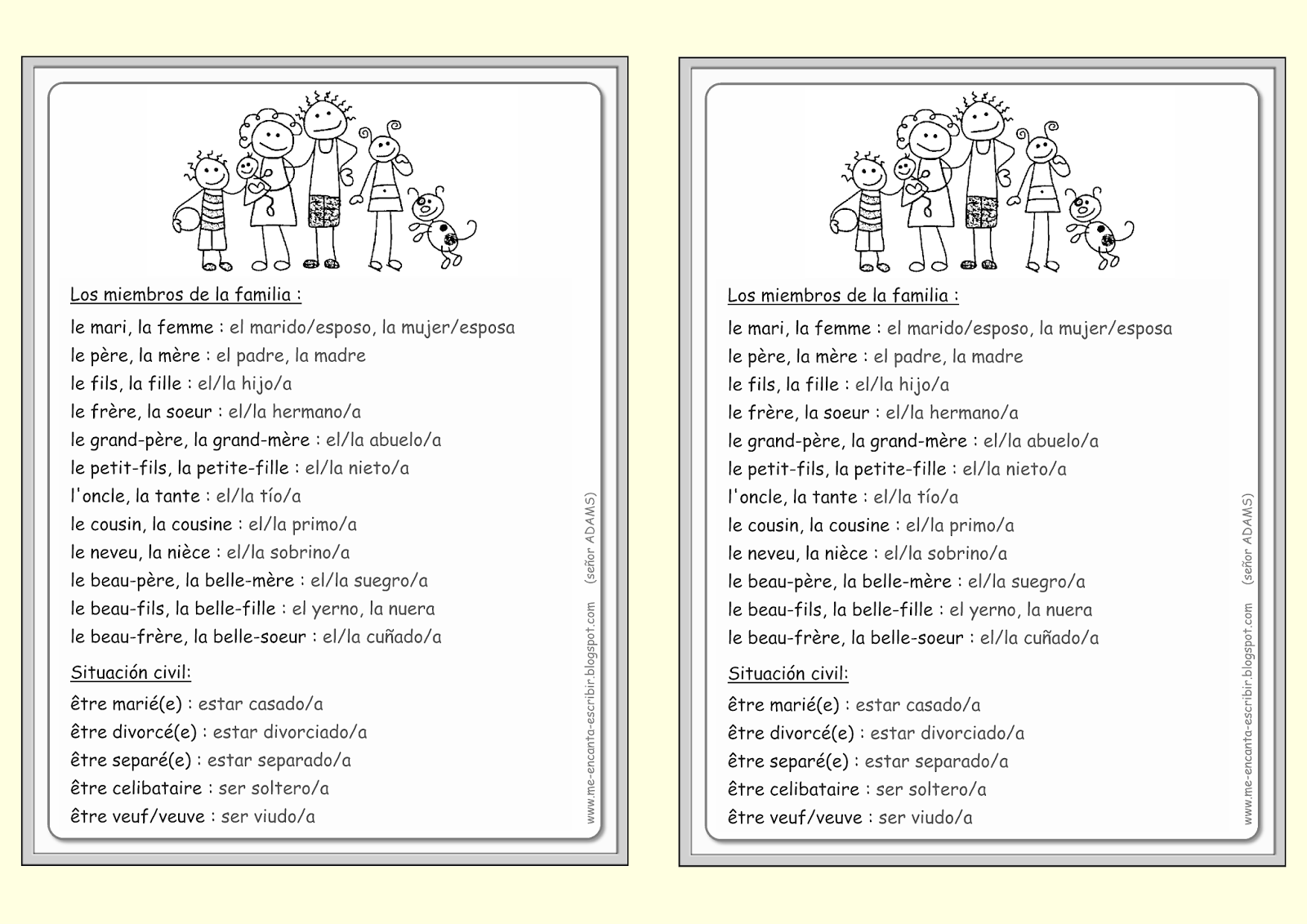 Family Tree In Spanish Worksheet – La Familia Worksheets