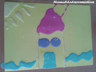 Pintura en relieve - Manualidades infantiles - harina y levadura