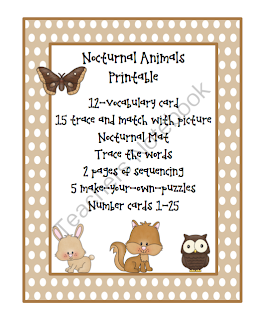 nocturnal animals preschool lesson plans preschool printables october 2013 418