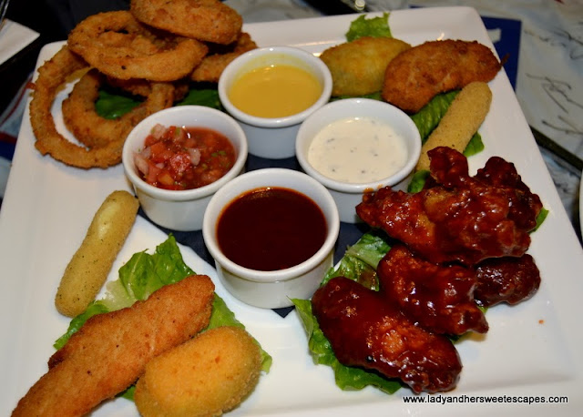 a platter of Tapas at Stars N Bars Yas Island