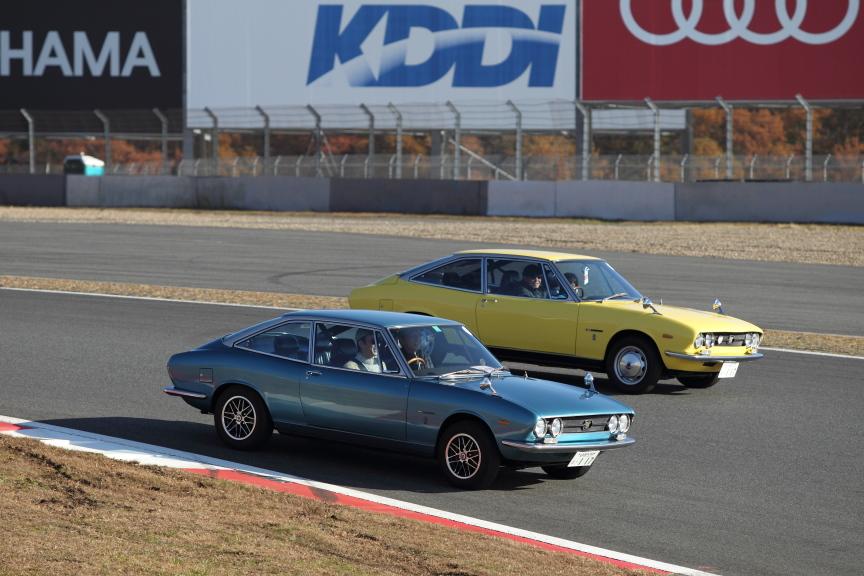 Isuzu 117 Coupe, stary japoński samochód, tor wyścigowy, sport, JDM