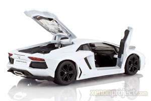 Lamborghini Aventador putih (18 - 20 cm)