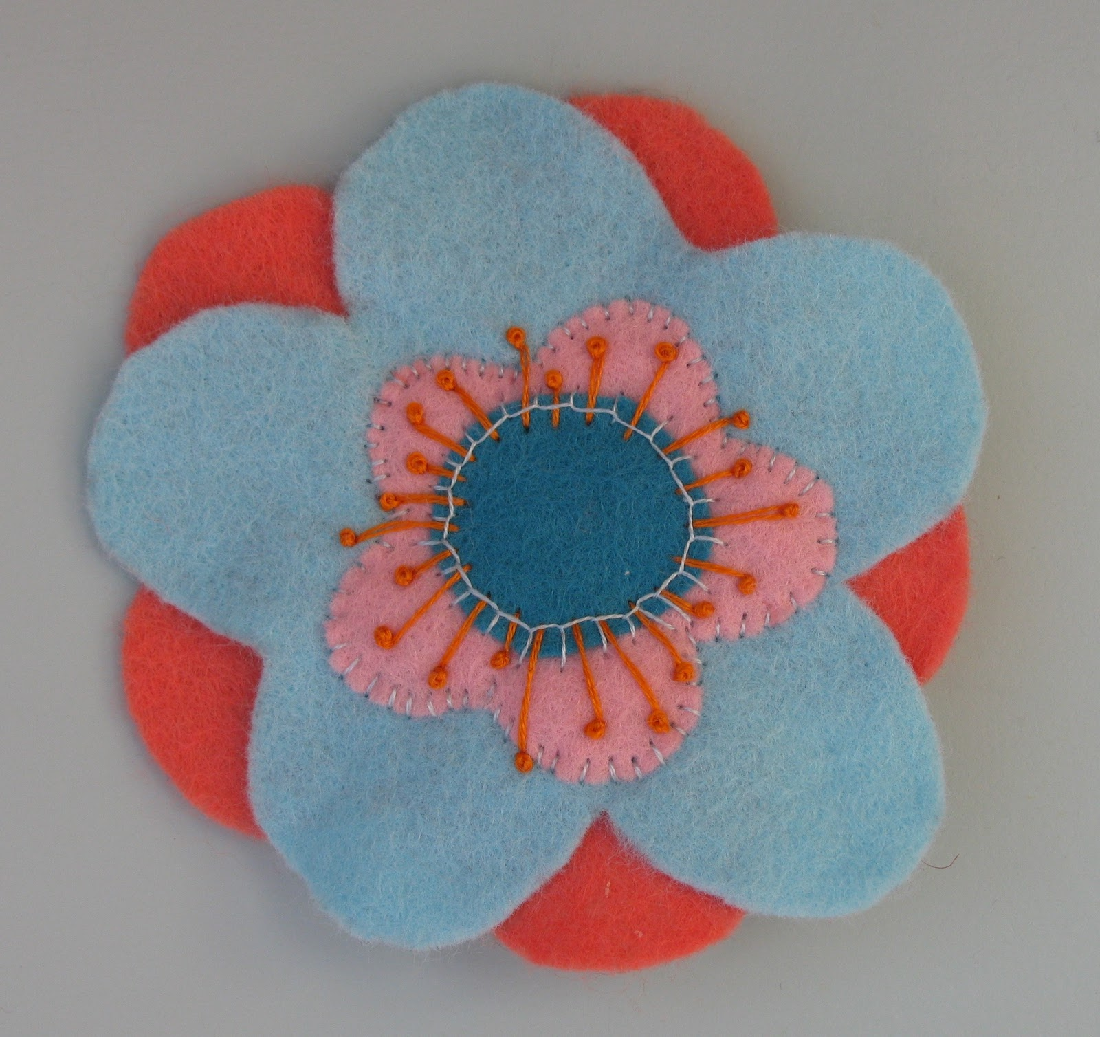 The Woolly Brew Felt Flower kit