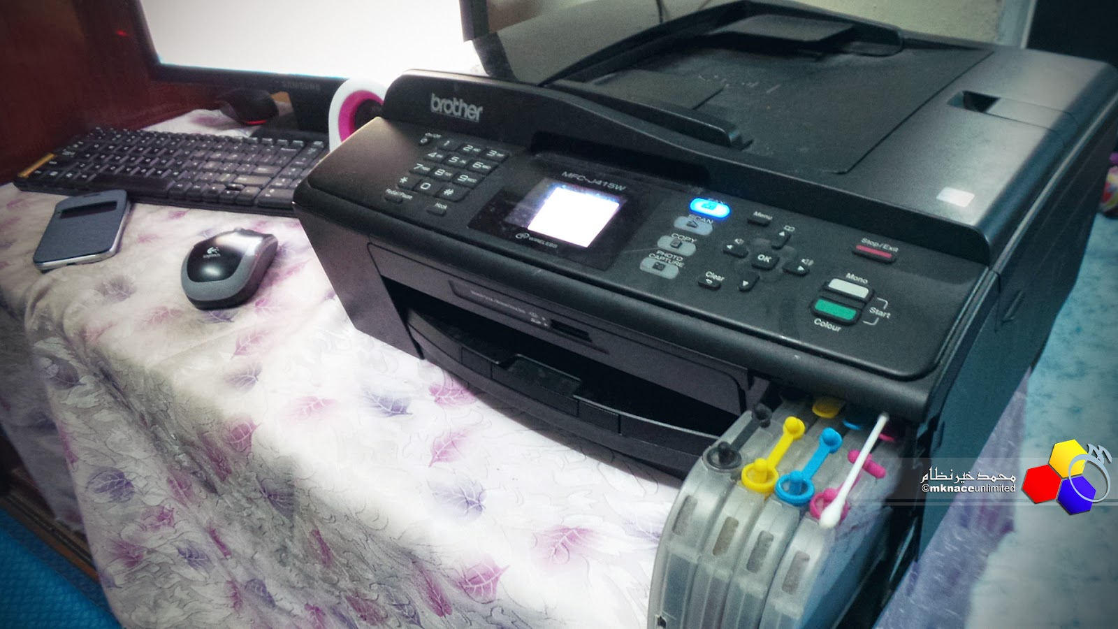 Printer Brother MFC J415W ku dah mula wat hal