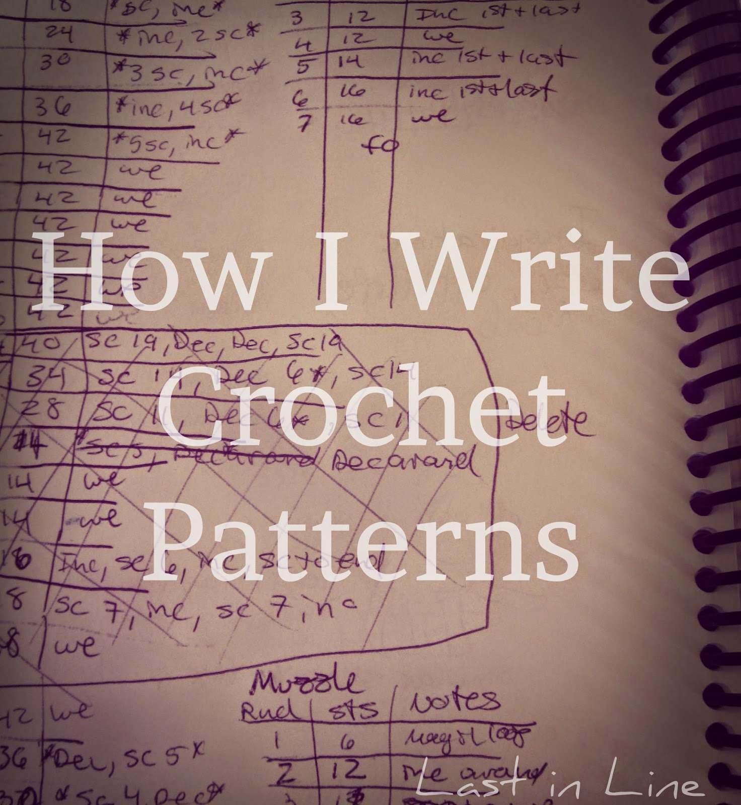 Crochet Pattern Writer : Forever Last In Line: How I Write Crochet Patterns