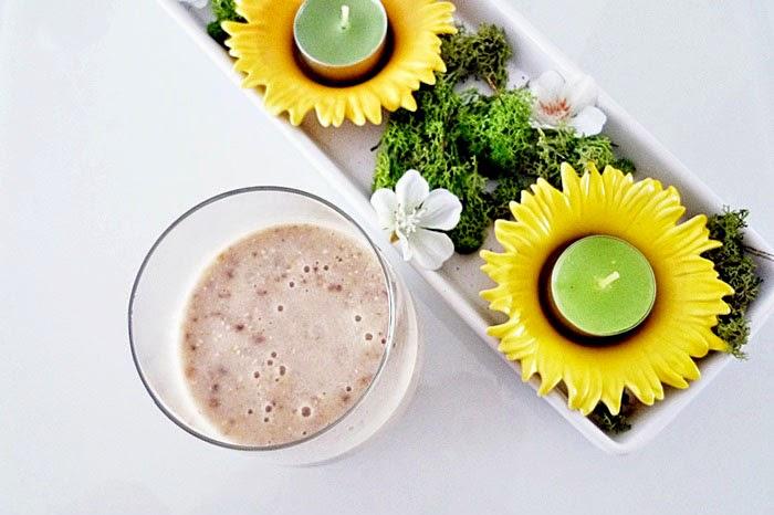 Frühstücks-Smoothie mit Banane und Melone