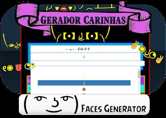GERADOR DE CARINHAS