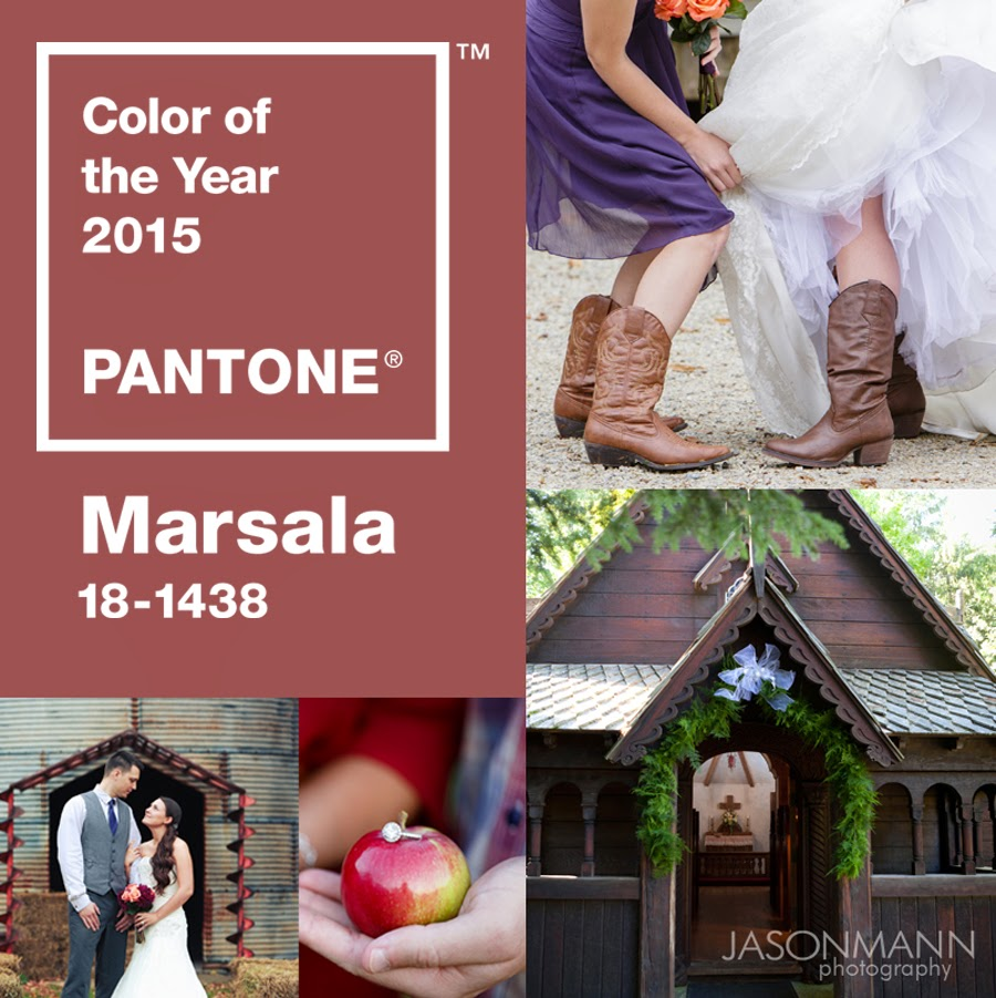 Pantone Color of the Year, Marsala and Your Door County wedding. Get inspiration! Photos by Jason Mann Photography.