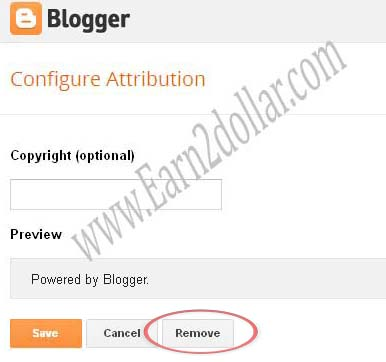 blogger tips to remove attribution