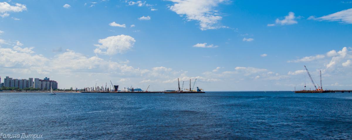 Крестовский остров вид на Финский залив фото